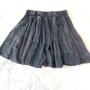 Brandy Melville grey burn out skirt